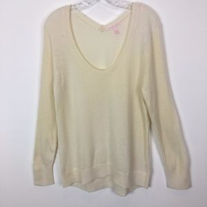Victoria Secret cashmere sweater size XL ivory